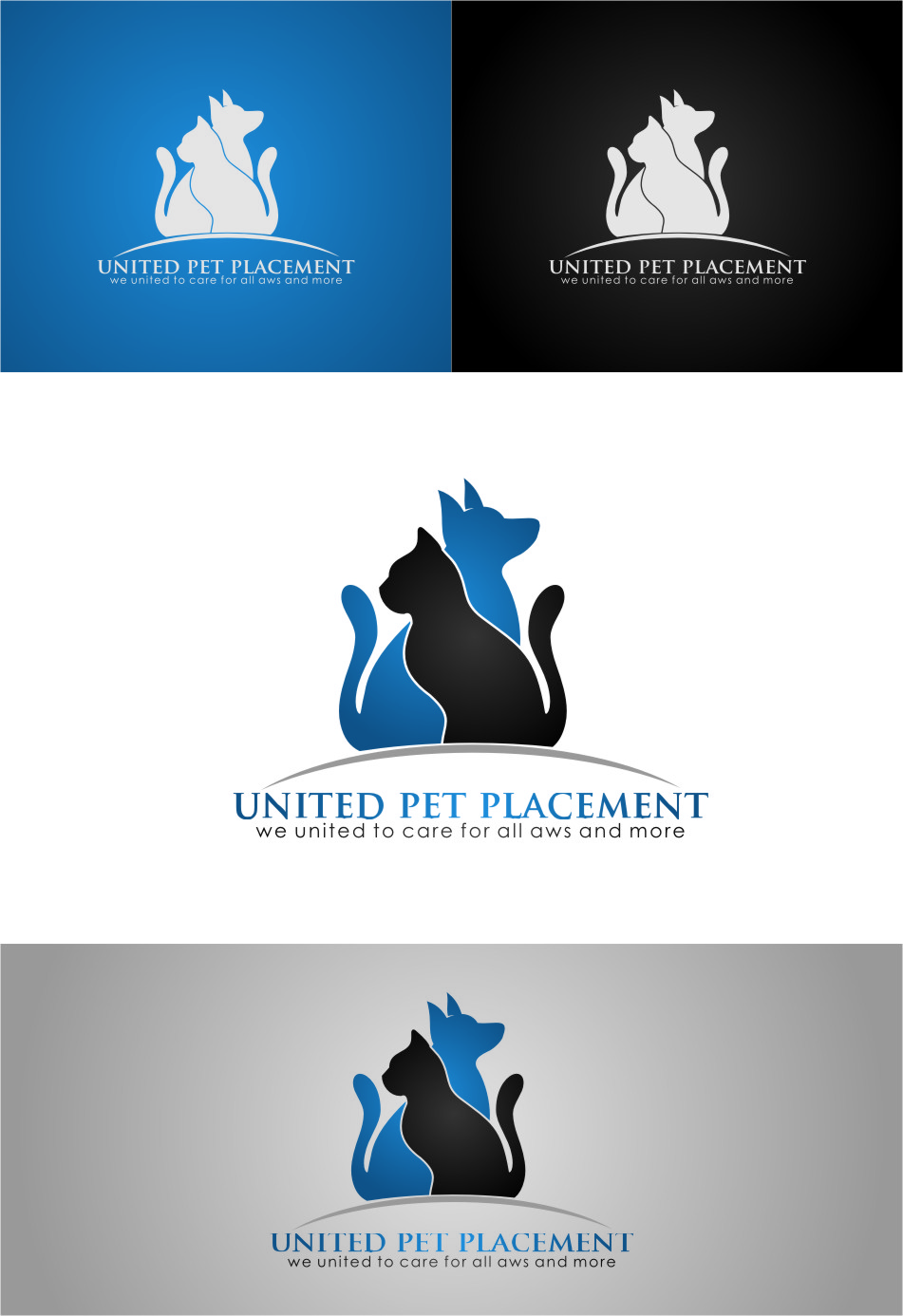 Logo Design by Ngepet_art - Entry No. 127 in the Logo Design Contest Artistic Logo Design for united pet placement.