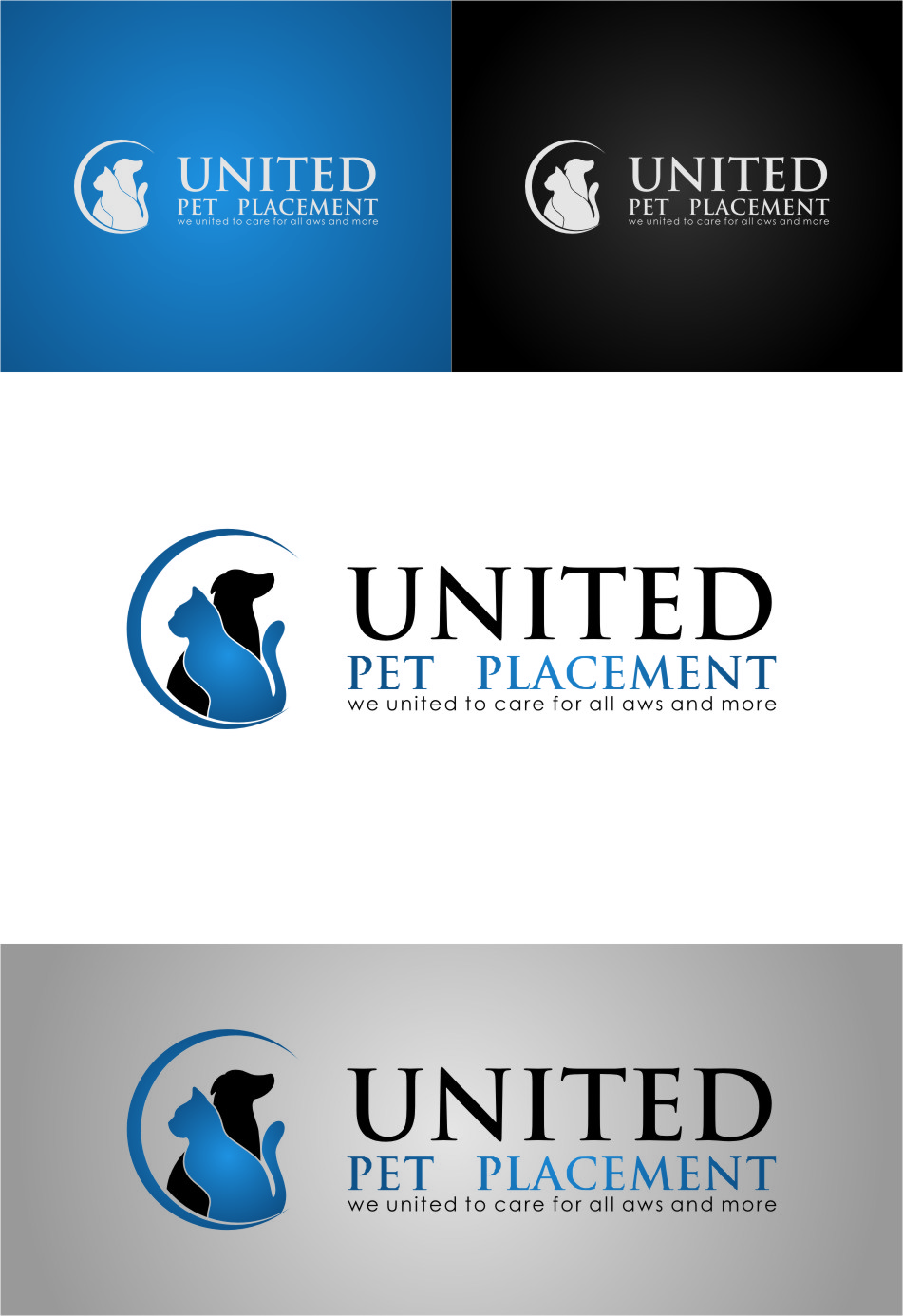 Logo Design by Ngepet_art - Entry No. 128 in the Logo Design Contest Artistic Logo Design for united pet placement.