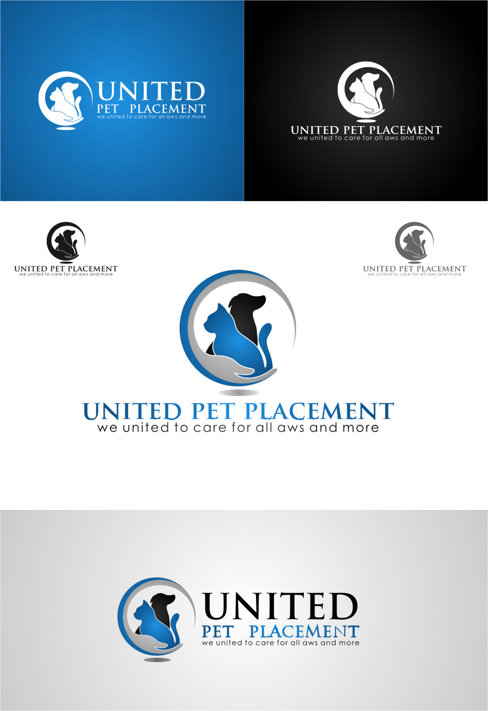 Logo Design by RoSyid Rono-Rene On Java - Entry No. 129 in the Logo Design Contest Artistic Logo Design for united pet placement.