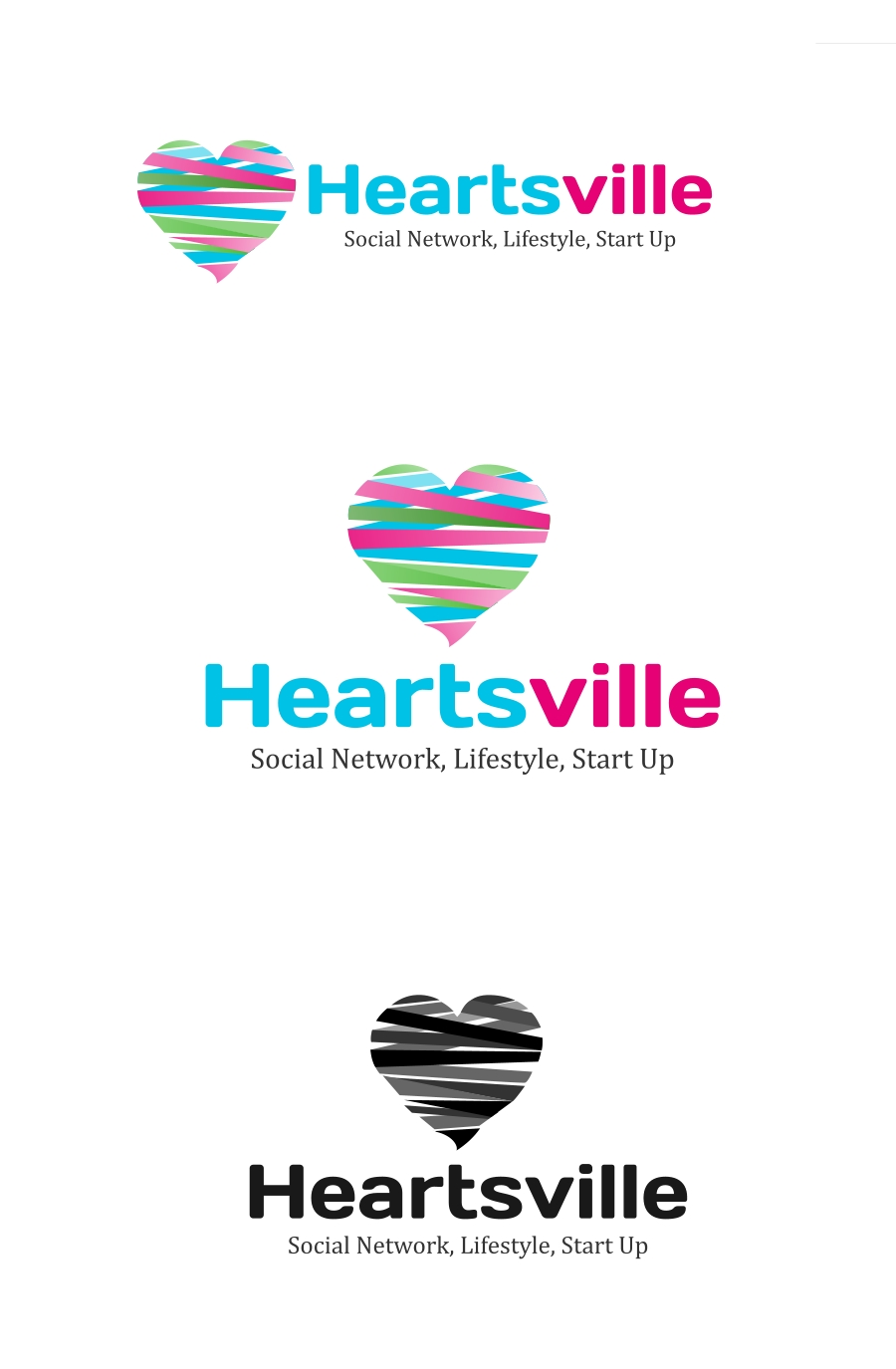 Logo Design by Private User - Entry No. 75 in the Logo Design Contest Unique Logo Design Wanted for Heartsville.