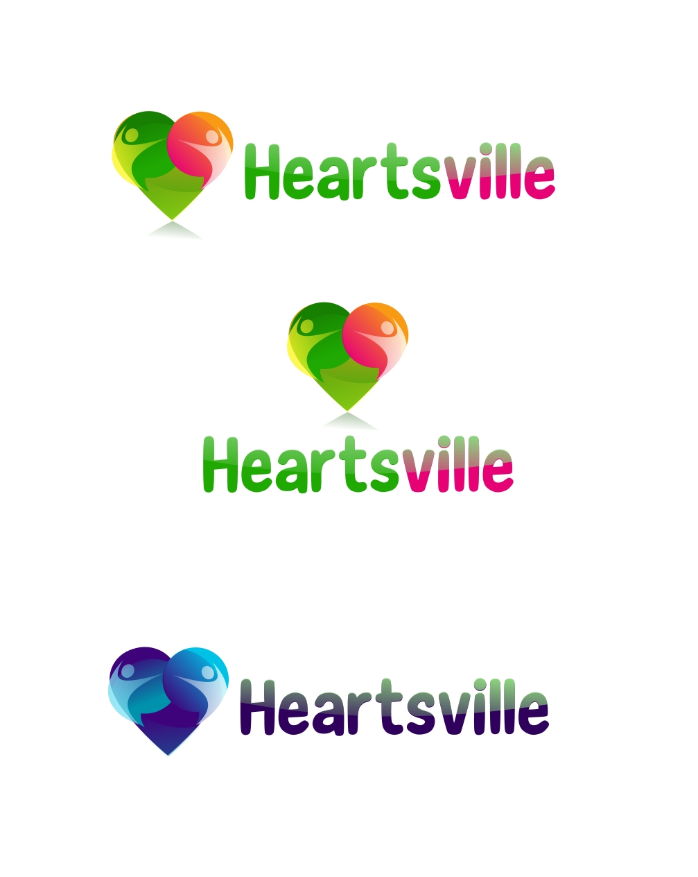Logo Design by Private User - Entry No. 82 in the Logo Design Contest Unique Logo Design Wanted for Heartsville.
