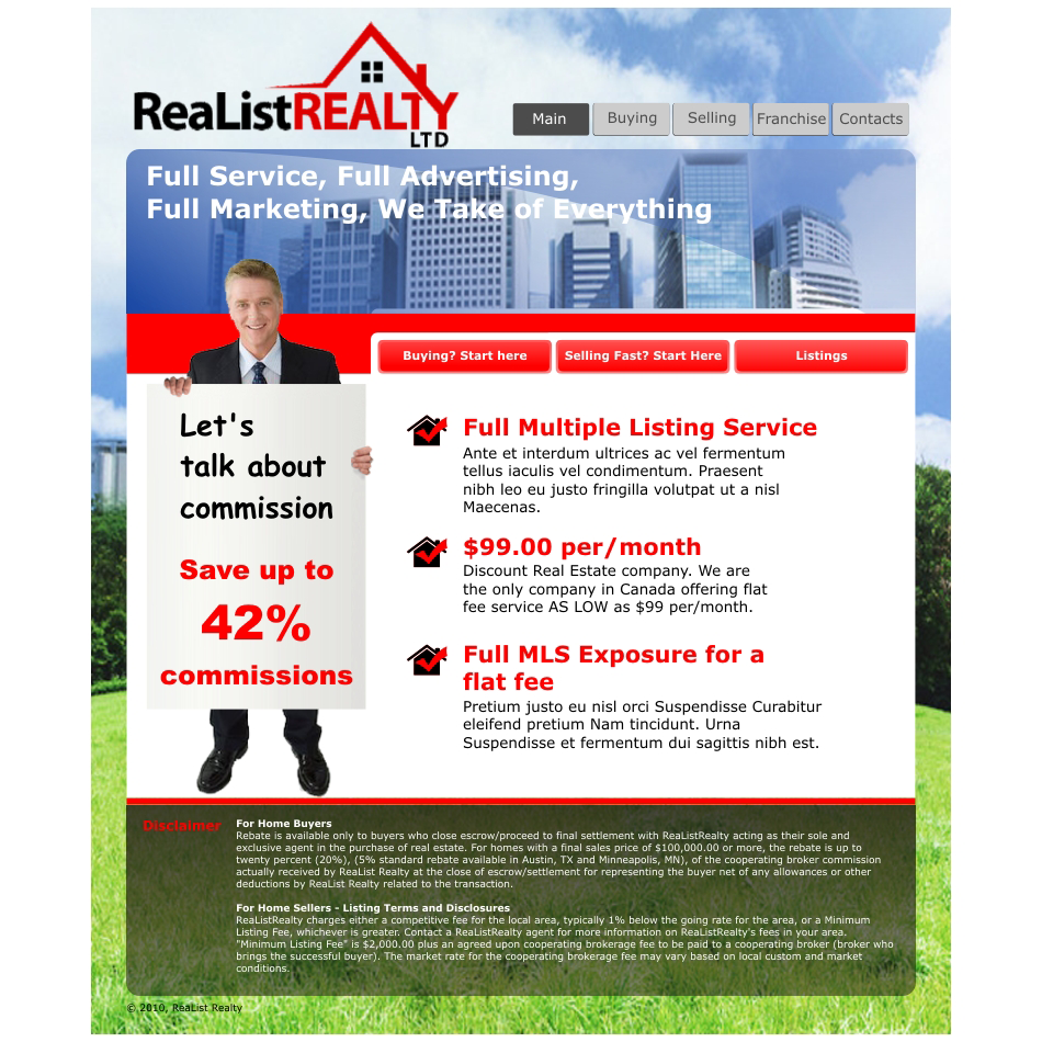 Web Page Design by aspstudio - Entry No. 52 in the Web Page Design Contest Realist Realty International Ltd..
