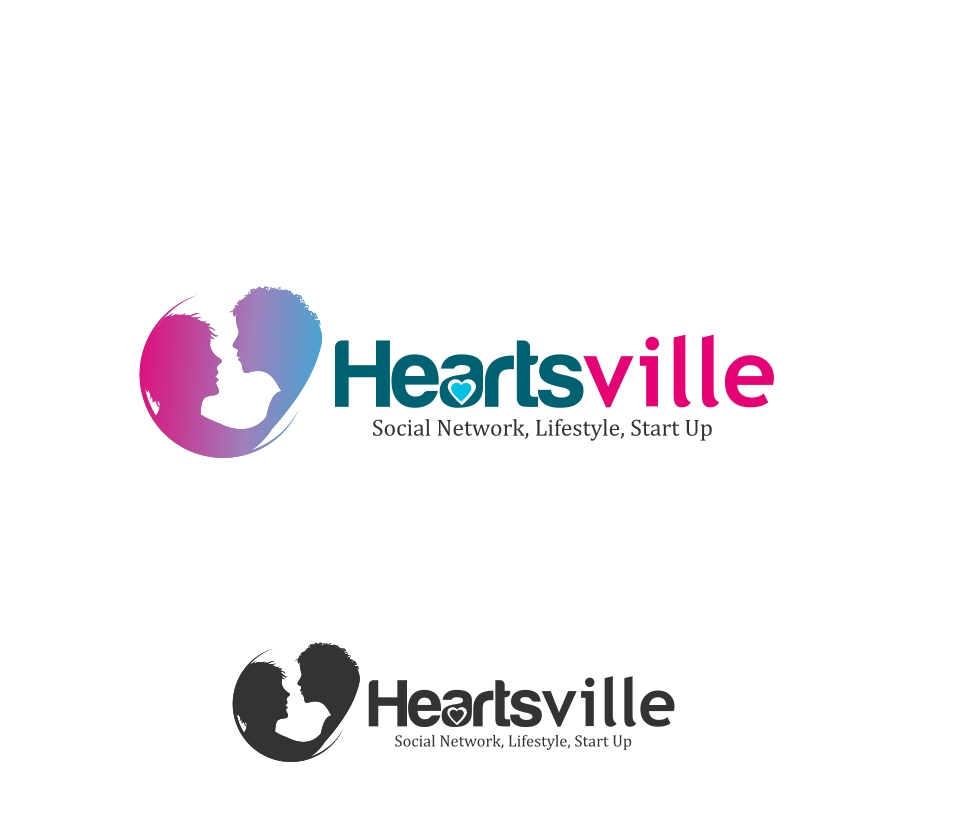 Logo Design by Private User - Entry No. 88 in the Logo Design Contest Unique Logo Design Wanted for Heartsville.