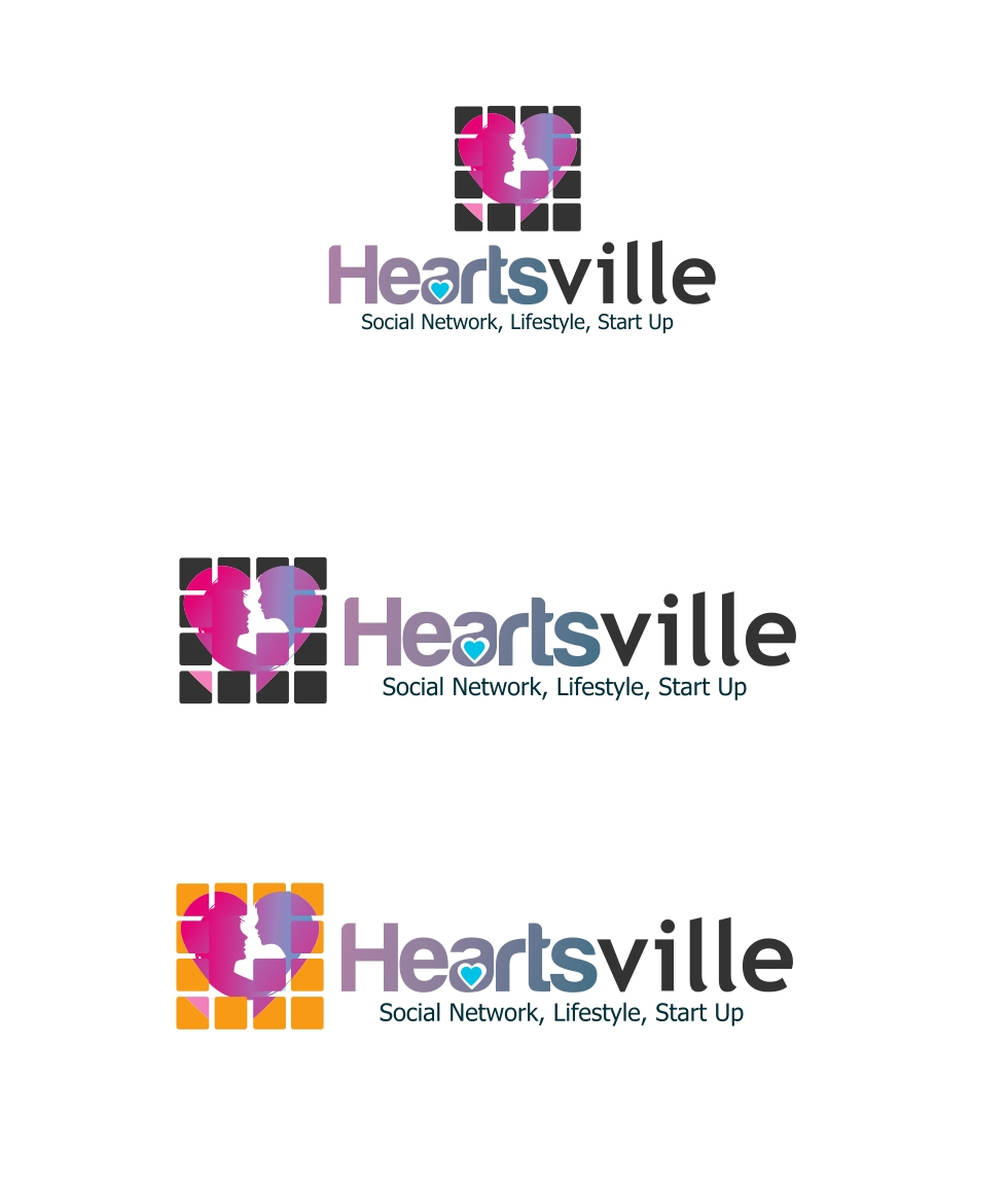 Logo Design by Private User - Entry No. 89 in the Logo Design Contest Unique Logo Design Wanted for Heartsville.