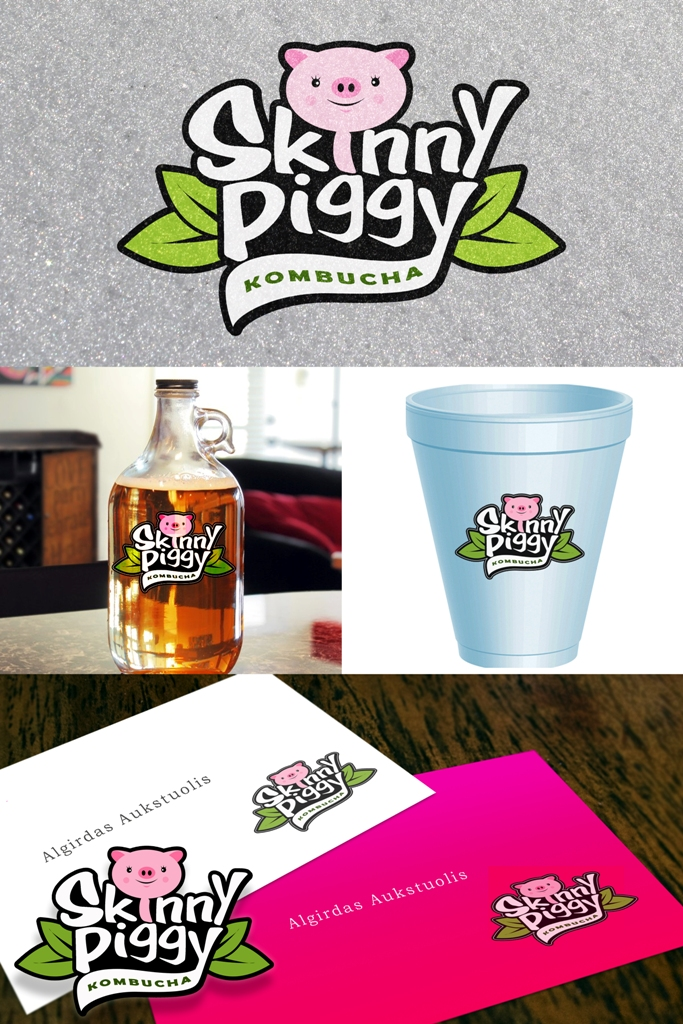 Logo Design by Juan_Kata - Entry No. 99 in the Logo Design Contest Fun Logo Design for Skinny Piggy.