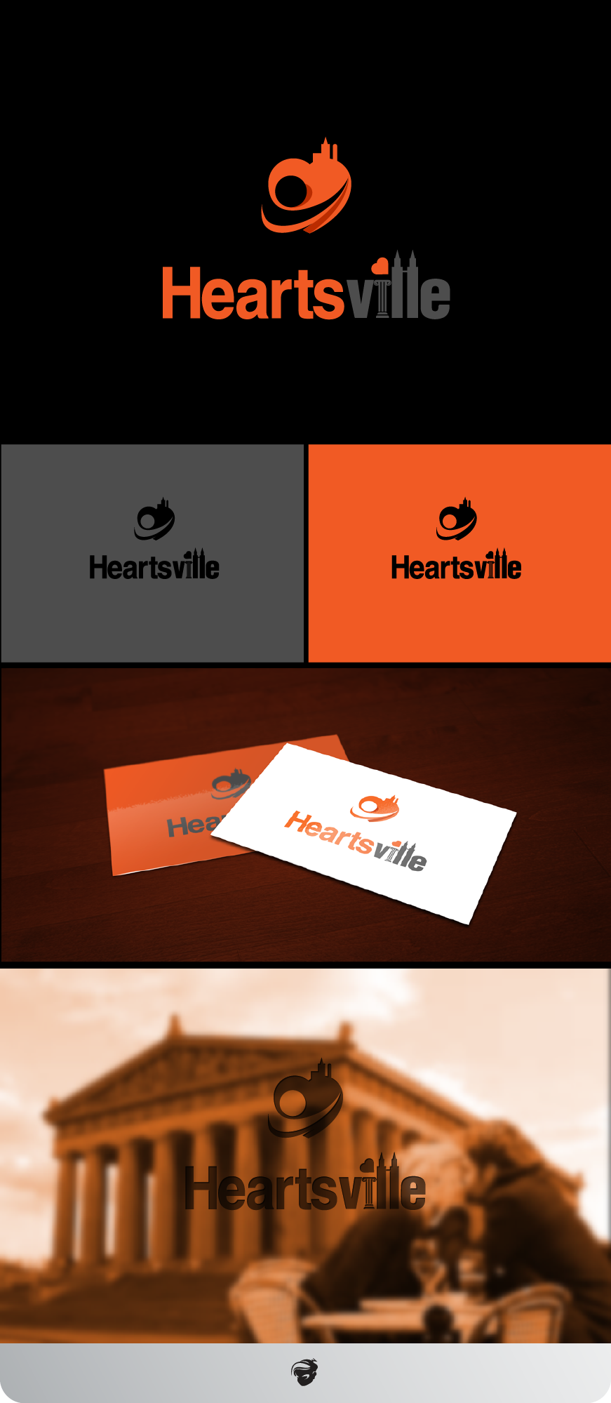 Logo Design by zesthar - Entry No. 105 in the Logo Design Contest Unique Logo Design Wanted for Heartsville.