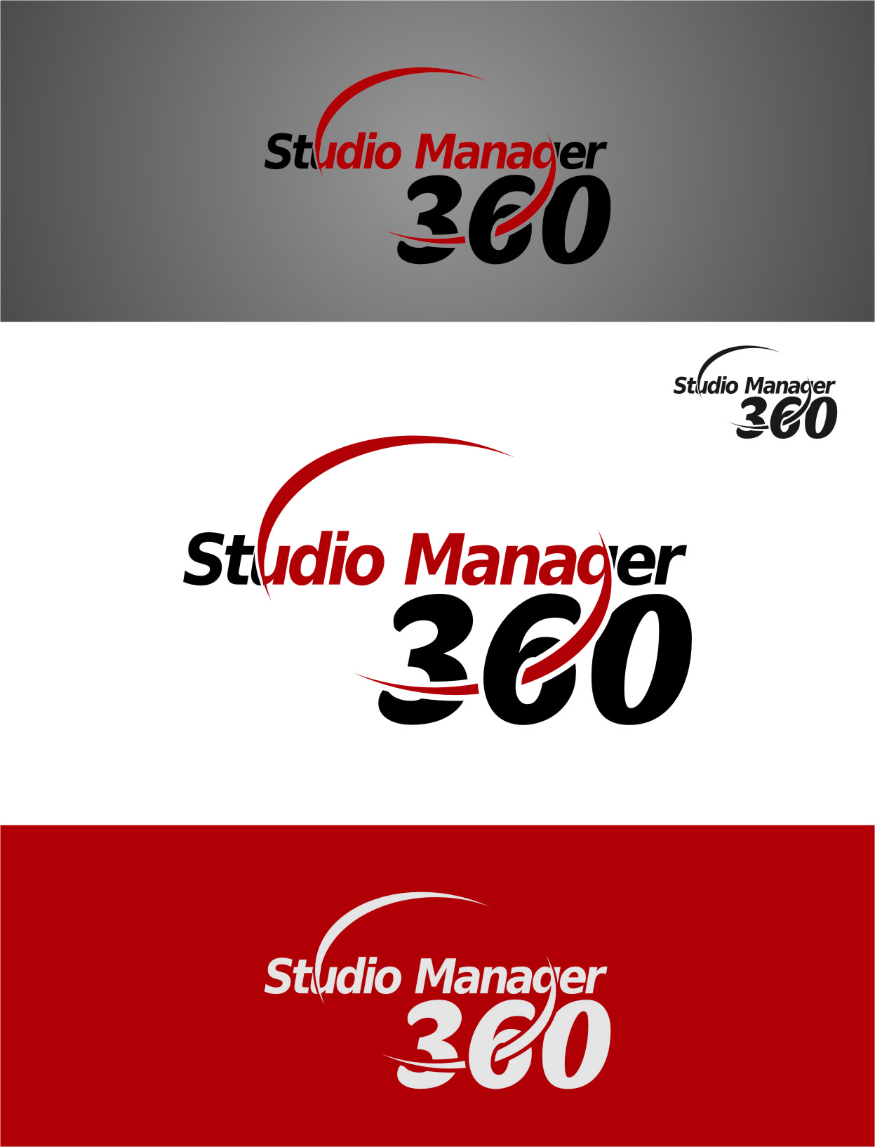 Logo Design by RasYa Muhammad Athaya - Entry No. 26 in the Logo Design Contest Unique Logo Design Wanted for Studio Manager 360.