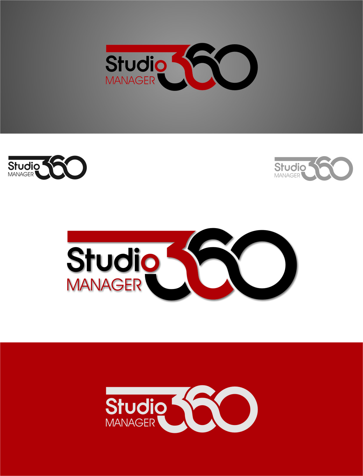 Logo Design by RasYa Muhammad Athaya - Entry No. 48 in the Logo Design Contest Unique Logo Design Wanted for Studio Manager 360.