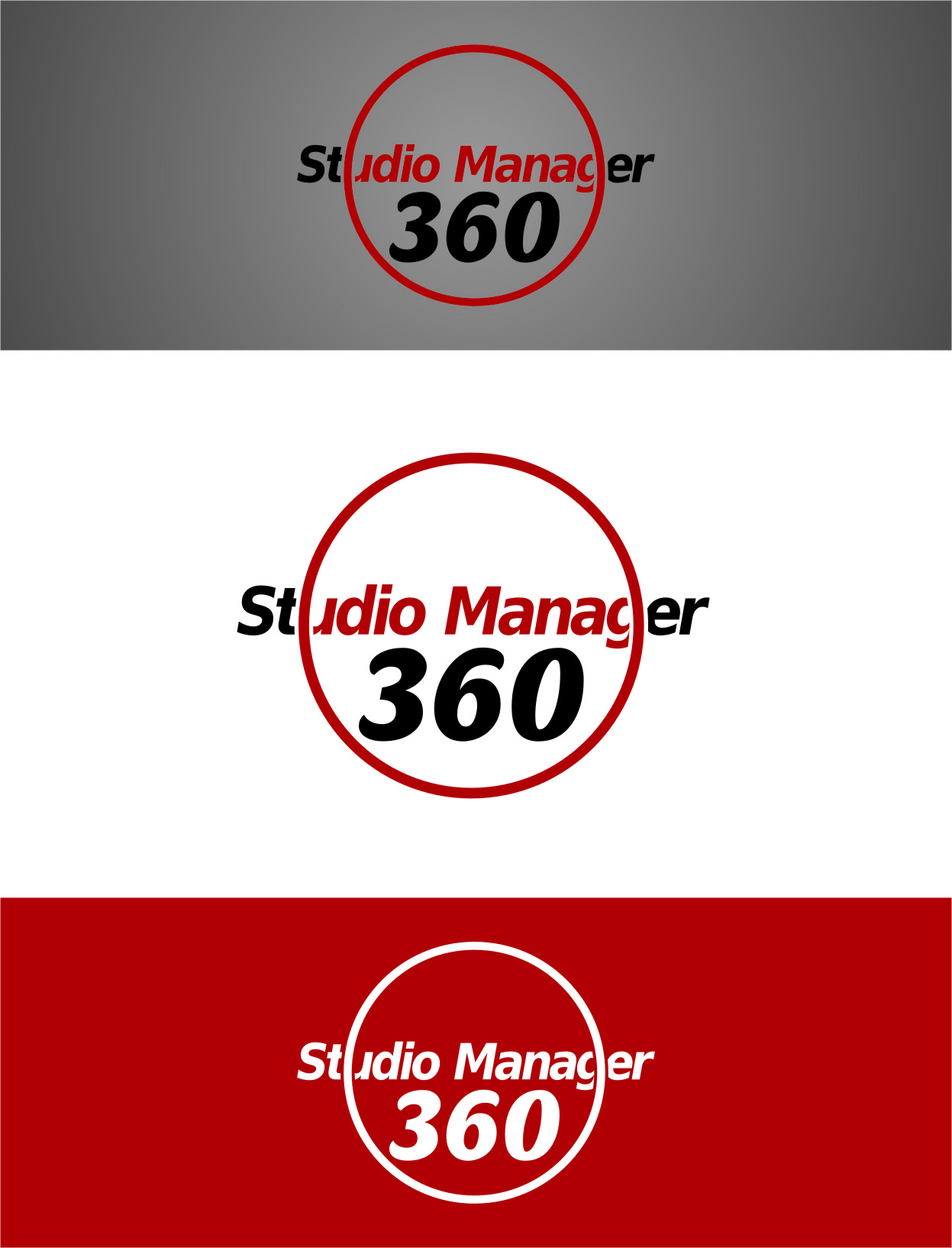 Logo Design by Ngepet_art - Entry No. 101 in the Logo Design Contest Unique Logo Design Wanted for Studio Manager 360.