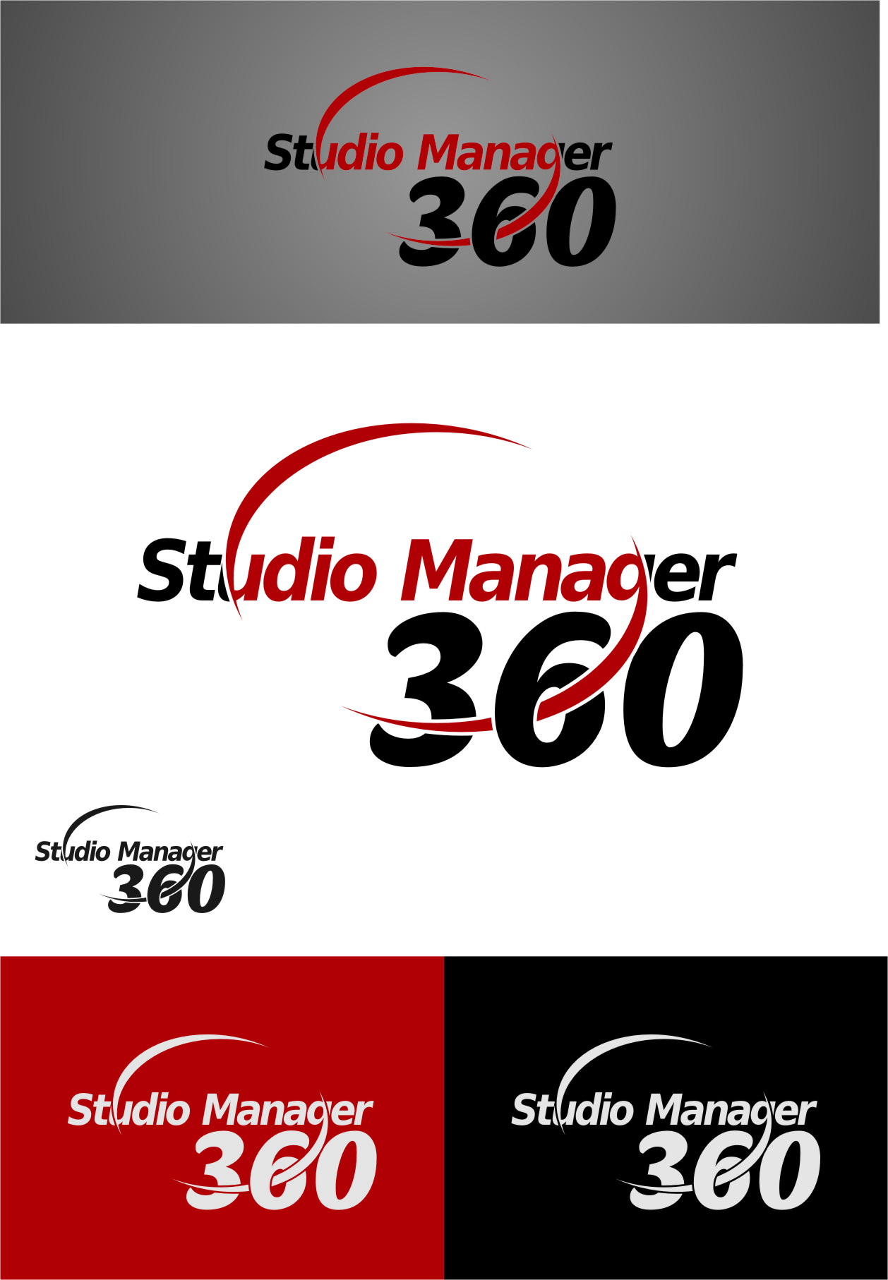 Logo Design by Ngepet_art - Entry No. 120 in the Logo Design Contest Unique Logo Design Wanted for Studio Manager 360.