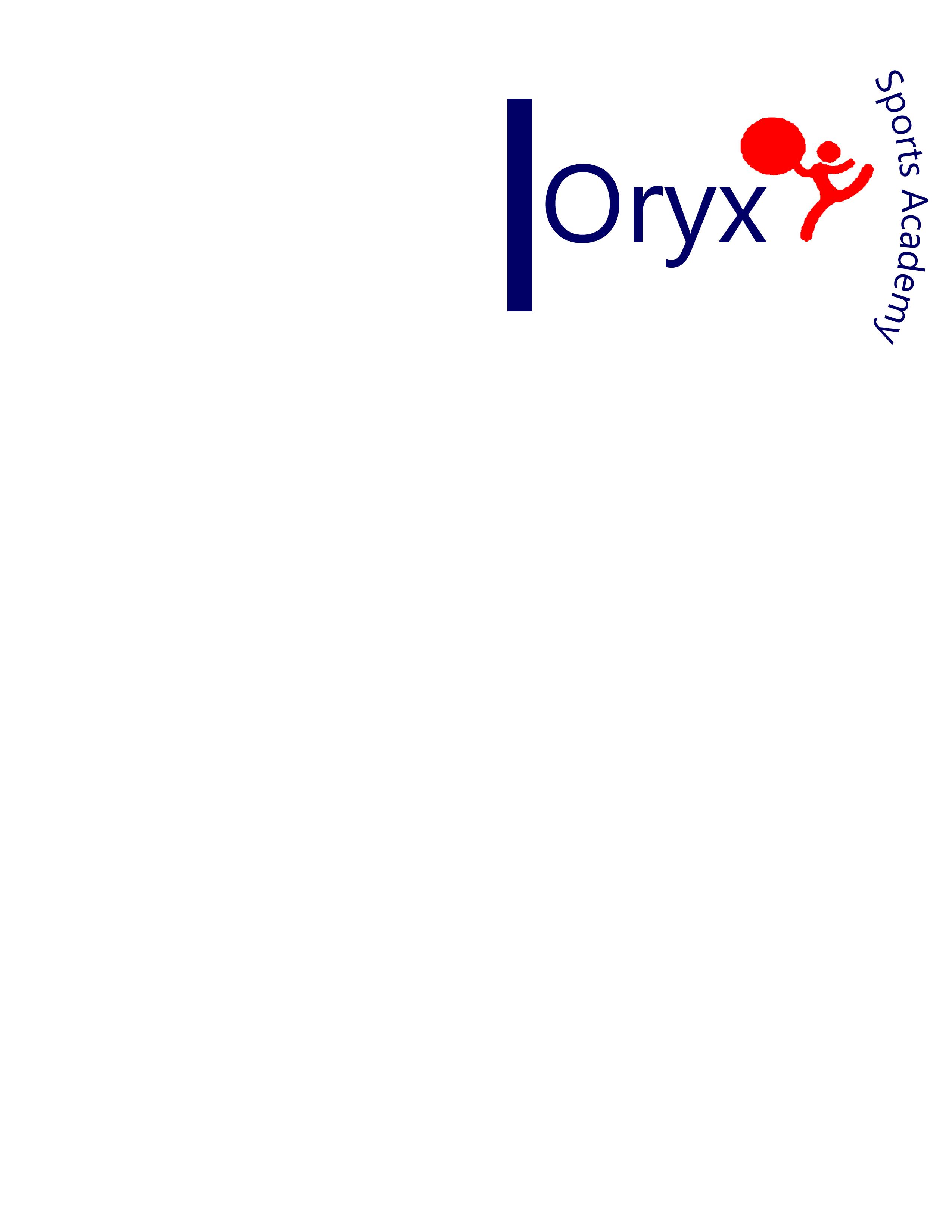 Logo Design by Laila Tariq - Entry No. 48 in the Logo Design Contest New Logo Design for Oryx Sports Academy.