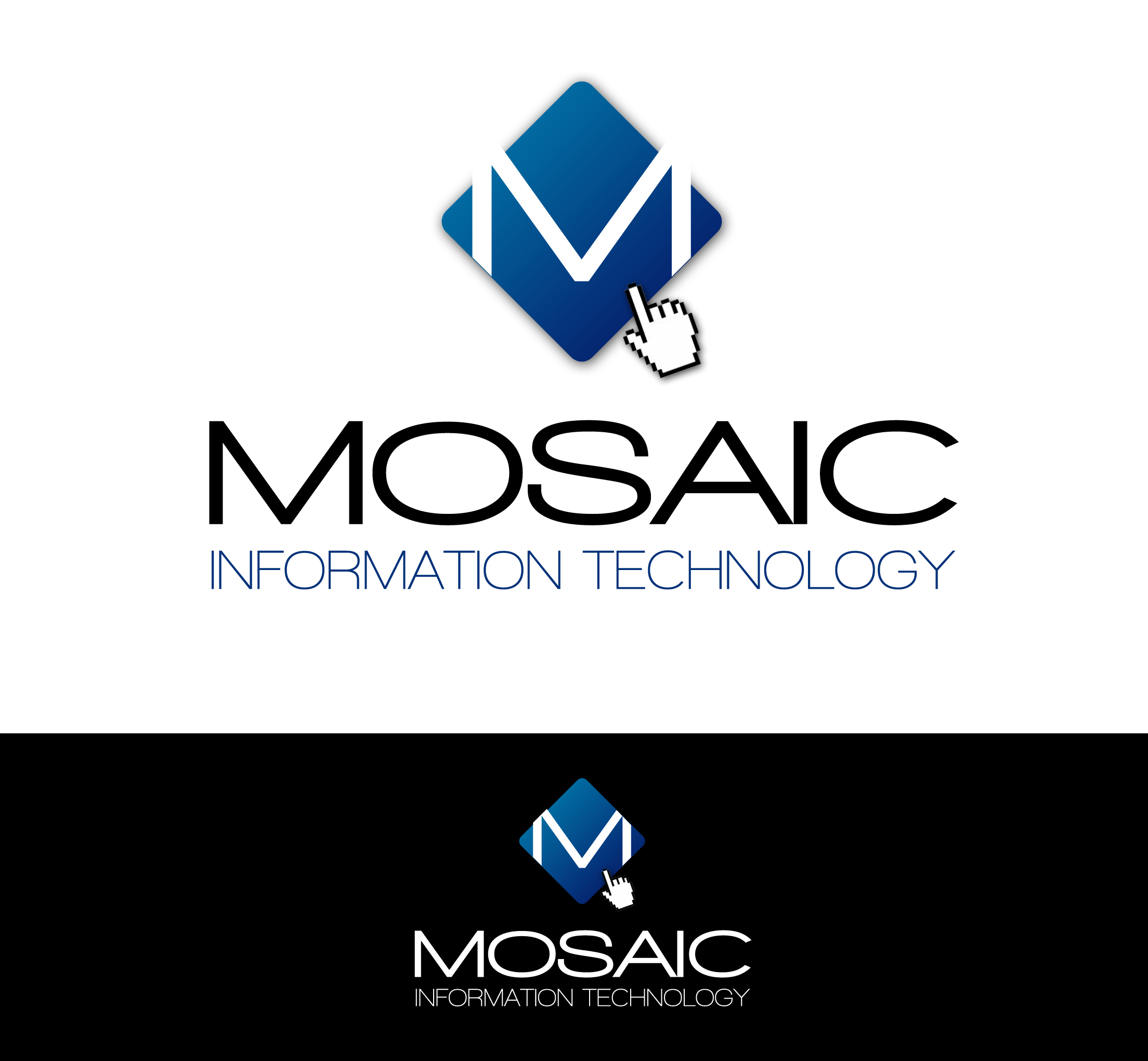Logo Design by Lama Creative - Entry No. 61 in the Logo Design Contest Mosaic Information Technology Logo Design.