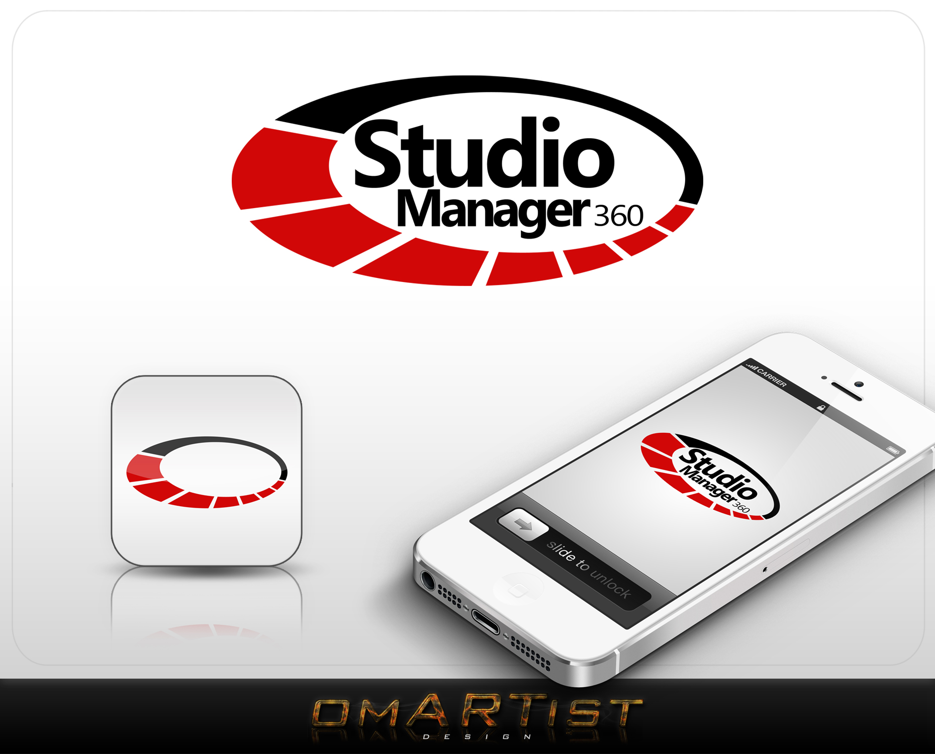 Logo Design by omARTist - Entry No. 173 in the Logo Design Contest Unique Logo Design Wanted for Studio Manager 360.