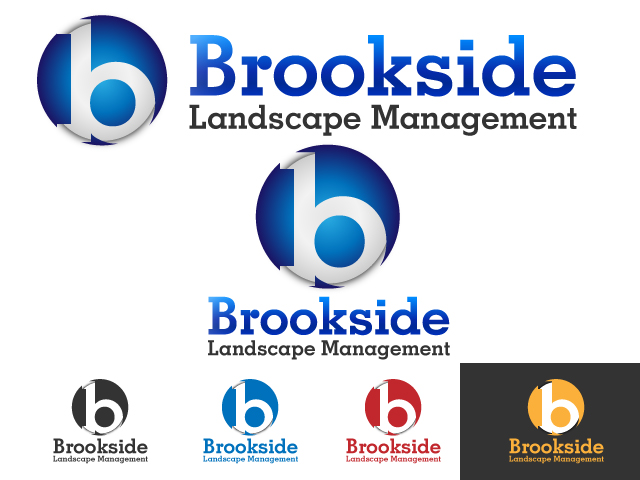 Logo Design by ronik.web - Entry No. 2 in the Logo Design Contest New Logo Design for Brookside Landscape Management.
