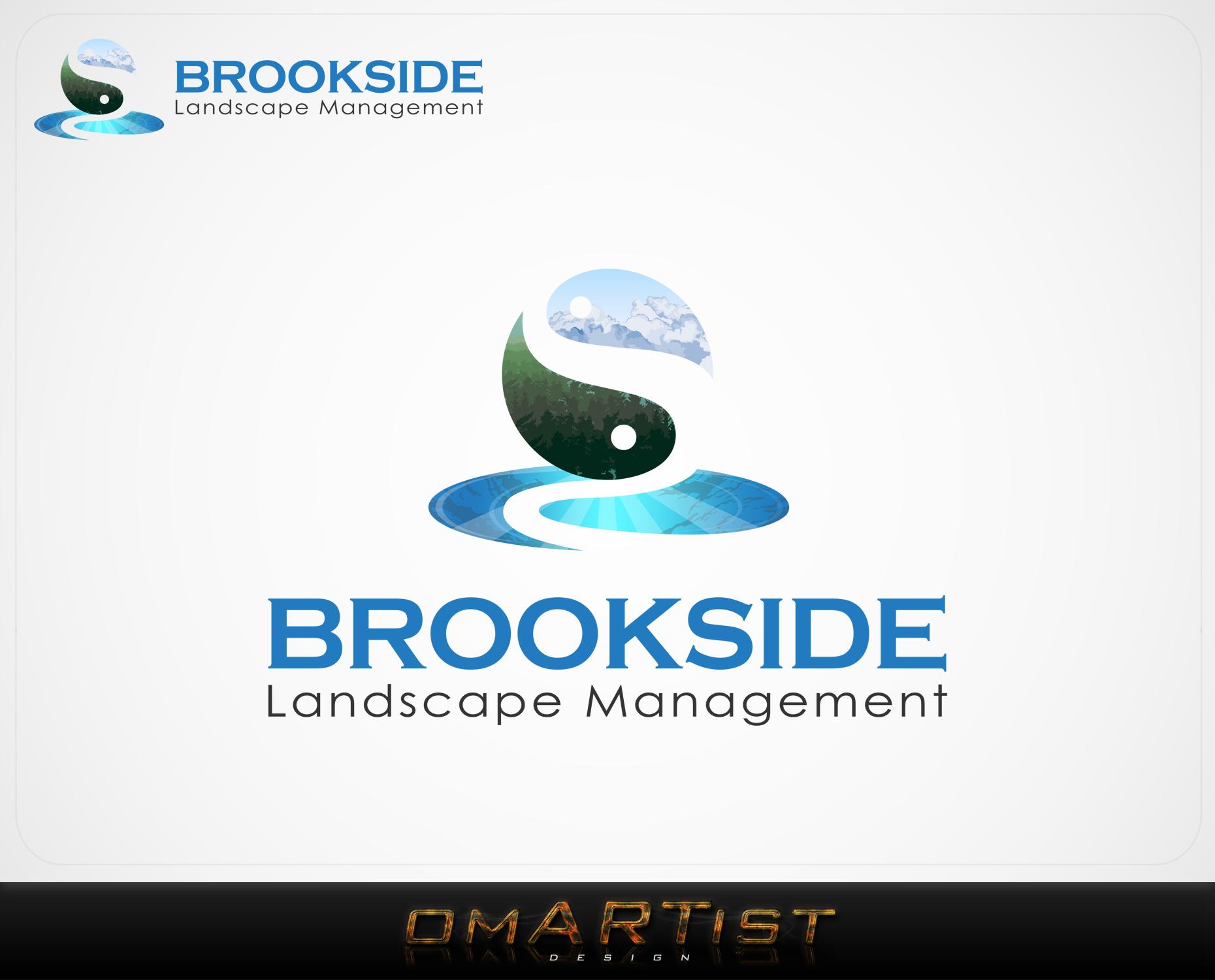 Logo Design by omARTist - Entry No. 7 in the Logo Design Contest New Logo Design for Brookside Landscape Management.