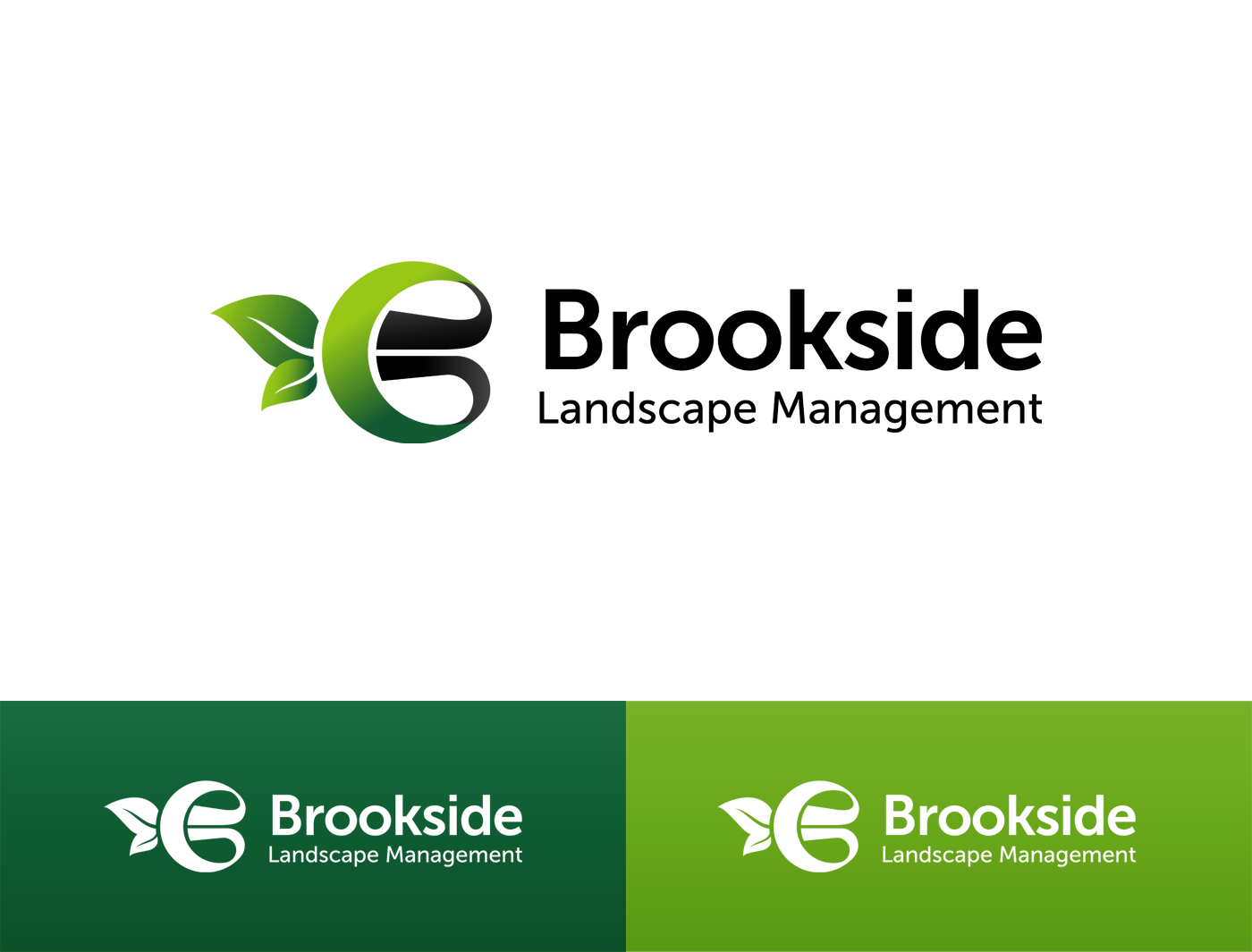Logo Design by Alexander Osokin - Entry No. 11 in the Logo Design Contest New Logo Design for Brookside Landscape Management.