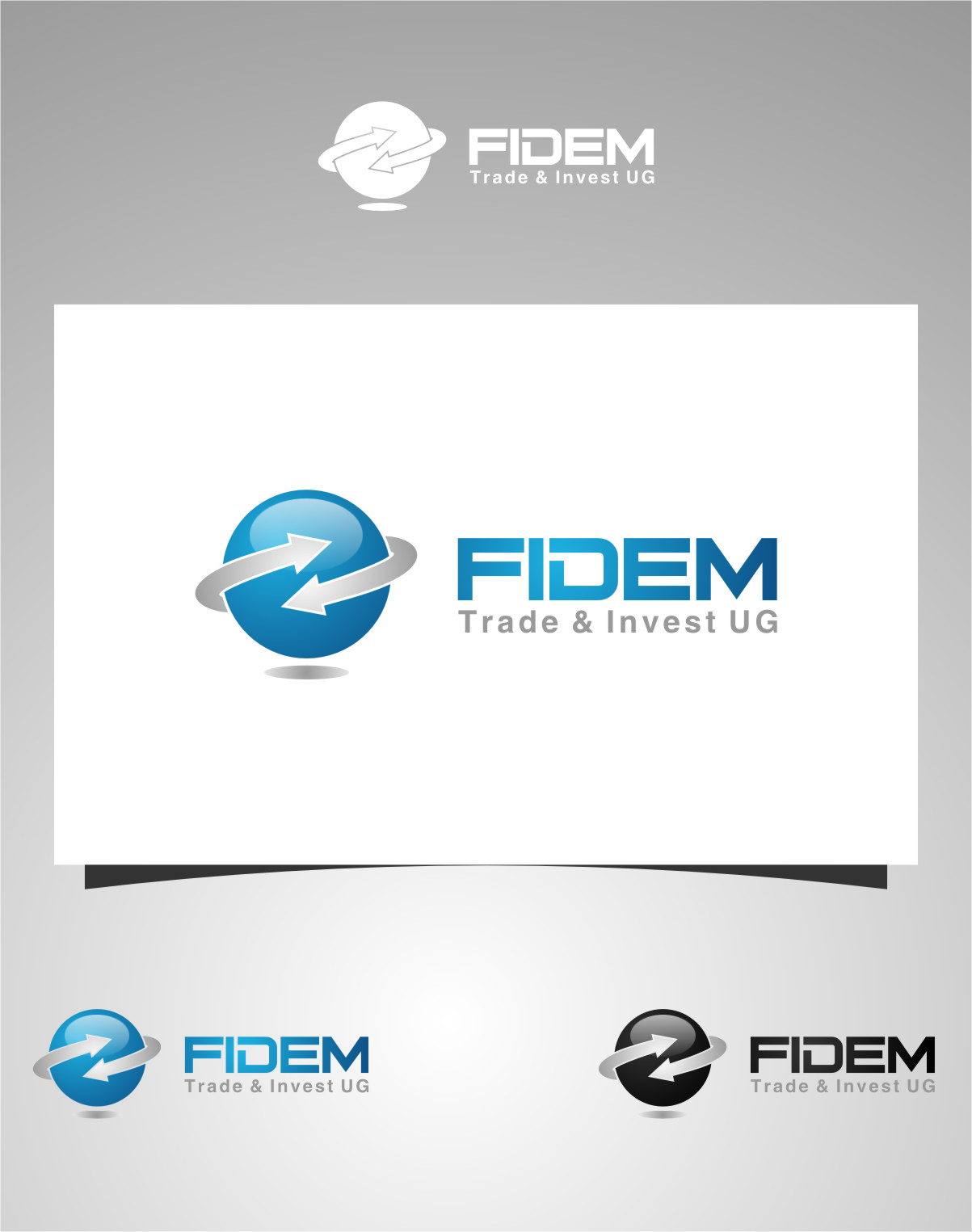 Logo Design by RoSyid Rono-Rene On Java - Entry No. 62 in the Logo Design Contest Professional Logo Design for FIDEM Trade & Invest UG.