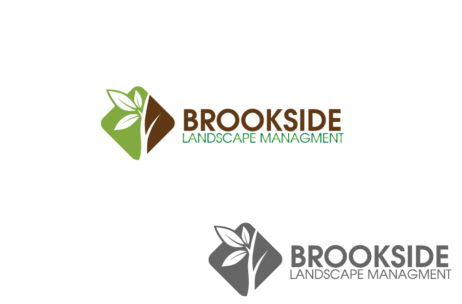 Logo Design by Private User - Entry No. 16 in the Logo Design Contest New Logo Design for Brookside Landscape Management.