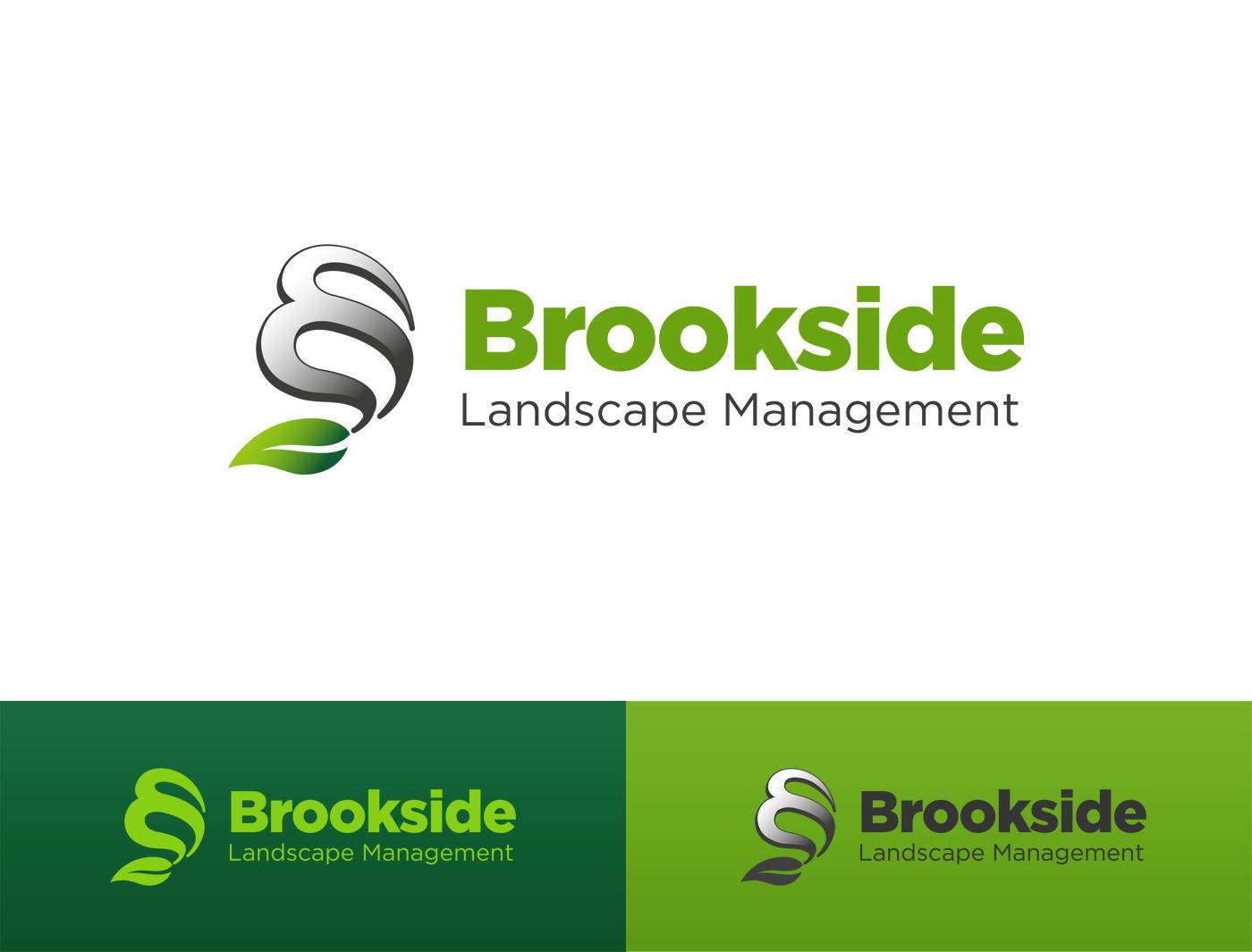 Logo Design by Alexander Osokin - Entry No. 26 in the Logo Design Contest New Logo Design for Brookside Landscape Management.