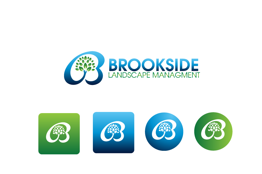 Logo Design by Private User - Entry No. 28 in the Logo Design Contest New Logo Design for Brookside Landscape Management.