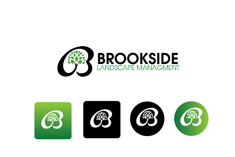 Logo Design by Private User - Entry No. 29 in the Logo Design Contest New Logo Design for Brookside Landscape Management.