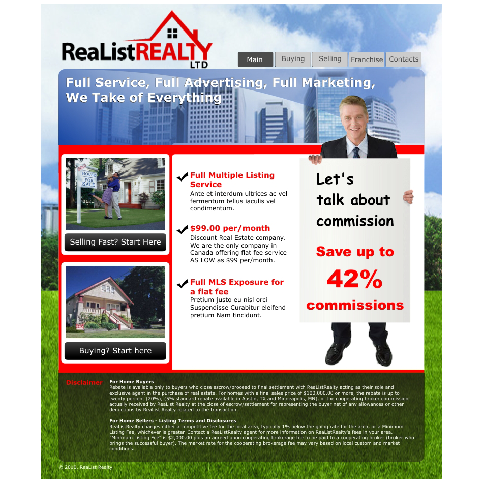 Web Page Design by aspstudio - Entry No. 69 in the Web Page Design Contest Realist Realty International Ltd..