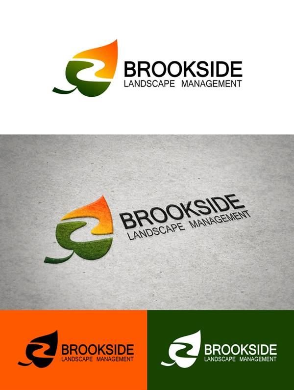 Logo Design by Respati Himawan - Entry No. 33 in the Logo Design Contest New Logo Design for Brookside Landscape Management.