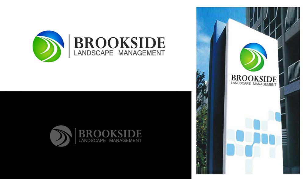 Logo Design by Respati Himawan - Entry No. 35 in the Logo Design Contest New Logo Design for Brookside Landscape Management.