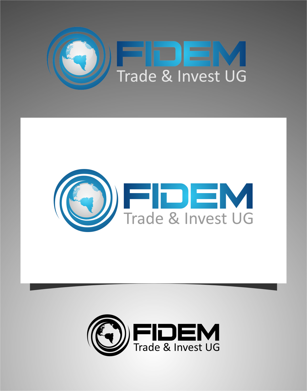 Logo Design by Ngepet_art - Entry No. 121 in the Logo Design Contest Professional Logo Design for FIDEM Trade & Invest UG.