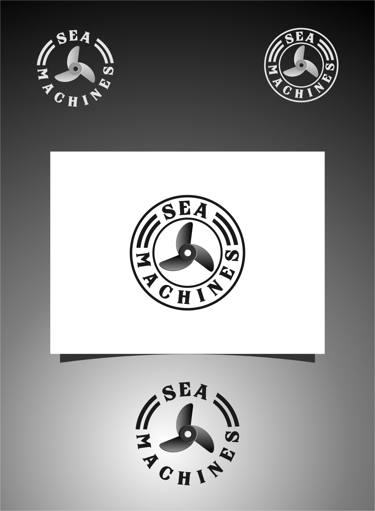 Logo Design by Ngepet_art - Entry No. 40 in the Logo Design Contest Creative Logo Design for SeaMachines.