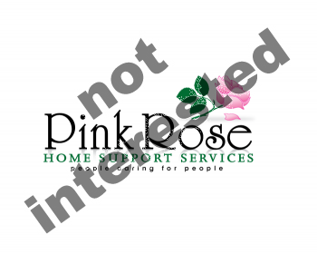 Logo Design by Gmars - Entry No. 132 in the Logo Design Contest Pink Rose Home Support Services.