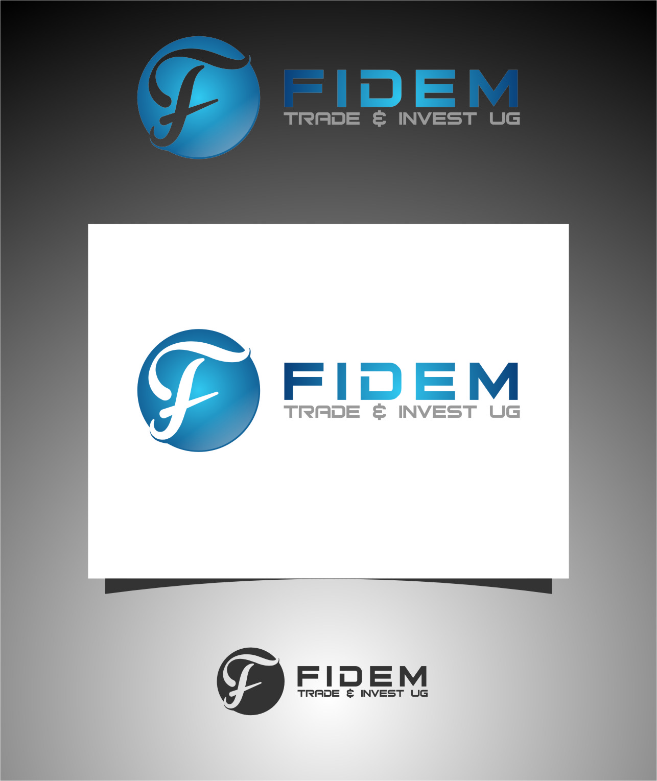 Logo Design by RoSyid Rono-Rene On Java - Entry No. 140 in the Logo Design Contest Professional Logo Design for FIDEM Trade & Invest UG.
