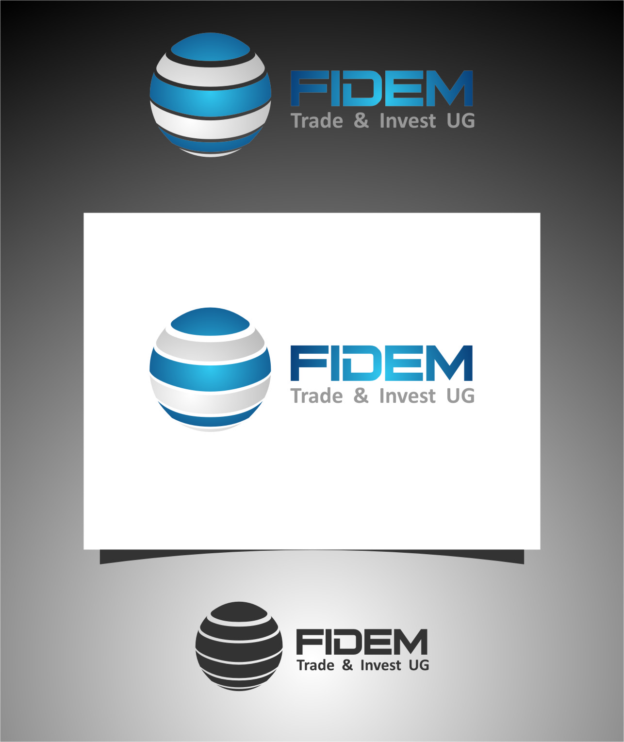 Logo Design by RoSyid Rono-Rene On Java - Entry No. 159 in the Logo Design Contest Professional Logo Design for FIDEM Trade & Invest UG.