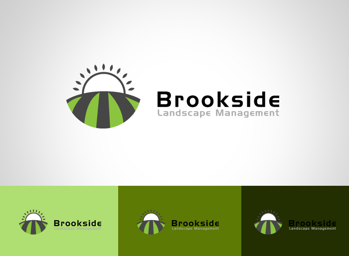 Logo Design by Jan Chua - Entry No. 50 in the Logo Design Contest New Logo Design for Brookside Landscape Management.