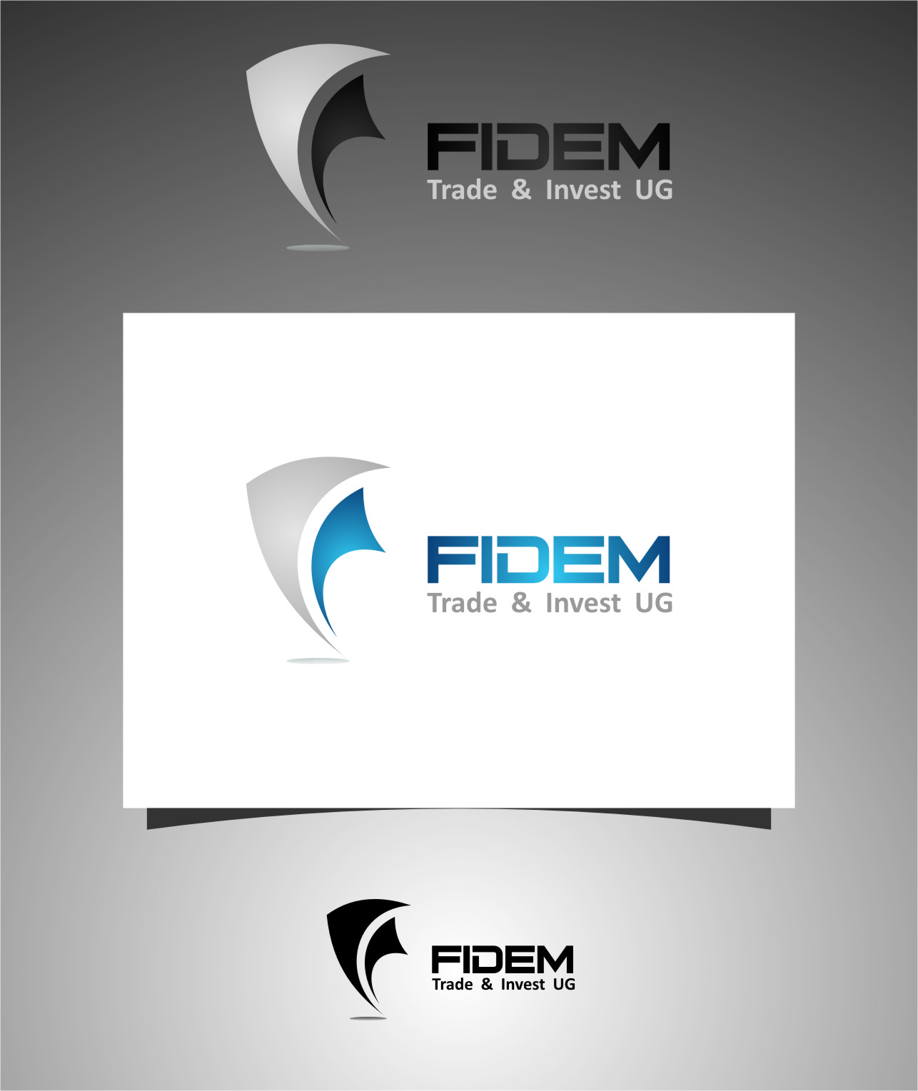 Logo Design by RasYa Muhammad Athaya - Entry No. 194 in the Logo Design Contest Professional Logo Design for FIDEM Trade & Invest UG.