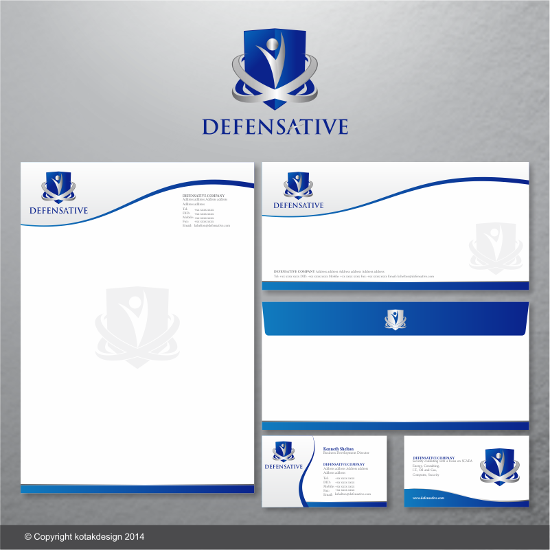 Custom Design by kotakdesign - Entry No. 3 in the Custom Design Contest Custom Design Business Cards+Logo+Stationary for Defensative.