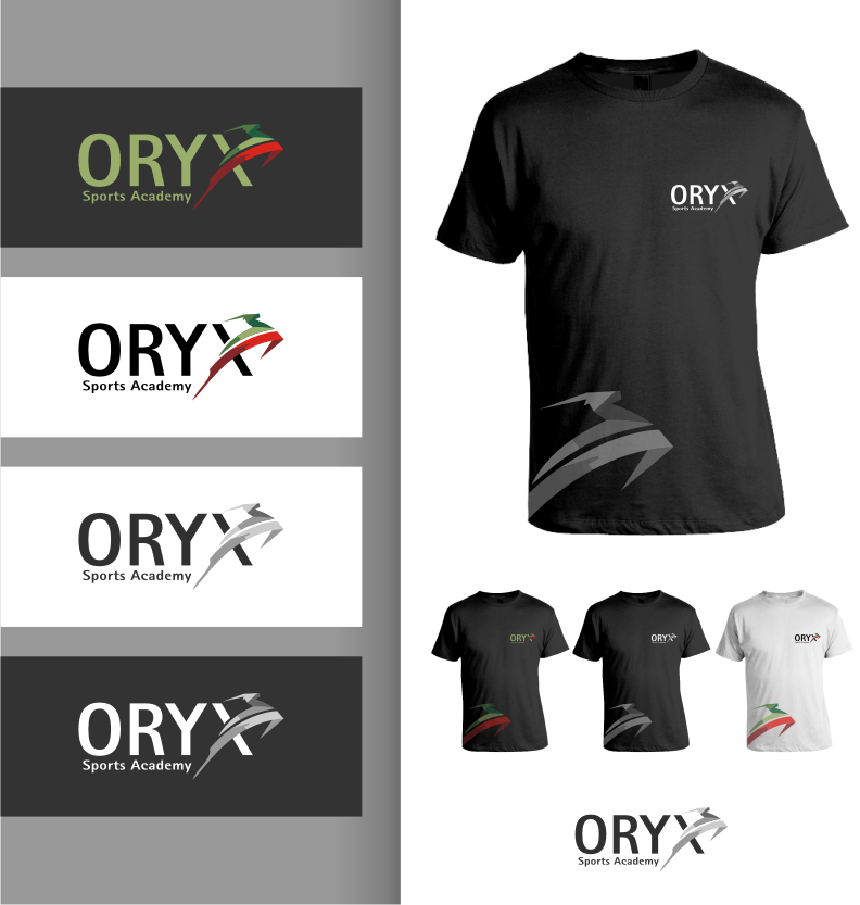Logo Design by graphicleaf - Entry No. 126 in the Logo Design Contest New Logo Design for Oryx Sports Academy.