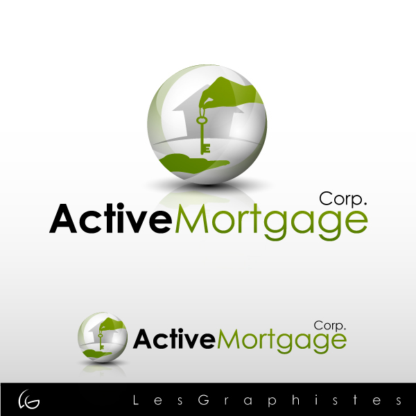 Logo Design by Les-Graphistes - Entry No. 187 in the Logo Design Contest Active Mortgage Corp..