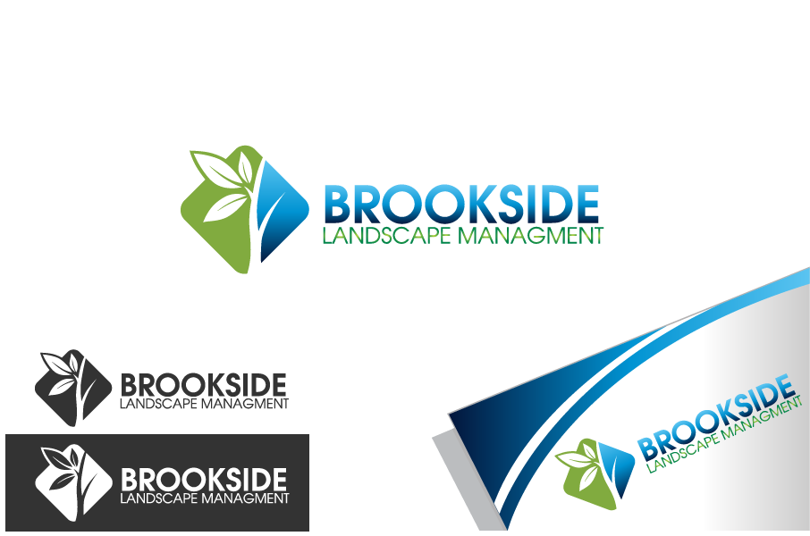 Logo Design by Private User - Entry No. 53 in the Logo Design Contest New Logo Design for Brookside Landscape Management.
