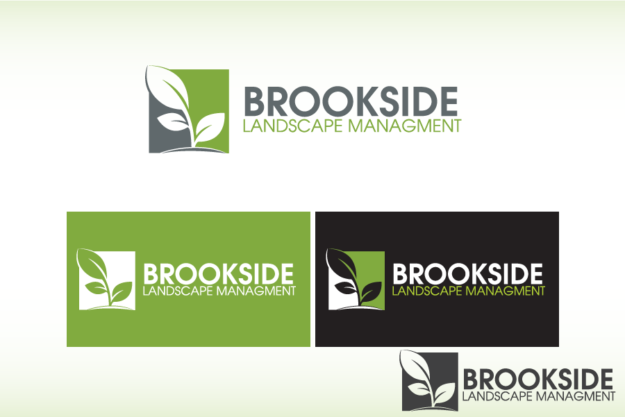 Logo Design by Private User - Entry No. 54 in the Logo Design Contest New Logo Design for Brookside Landscape Management.