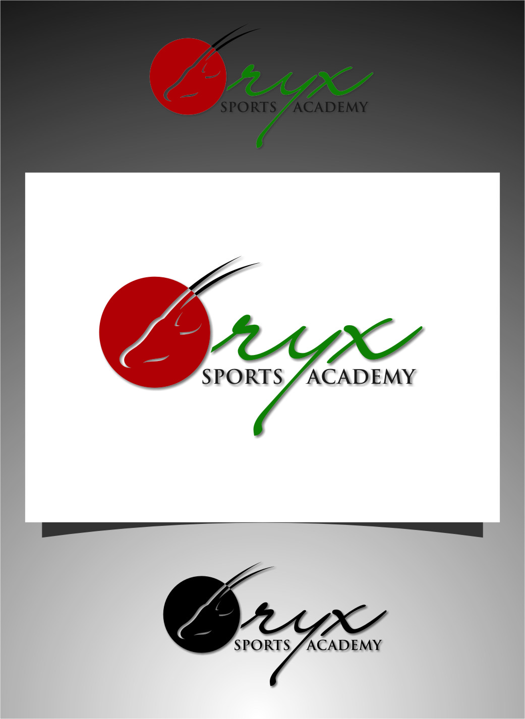 Logo Design by RoSyid Rono-Rene On Java - Entry No. 143 in the Logo Design Contest New Logo Design for Oryx Sports Academy.