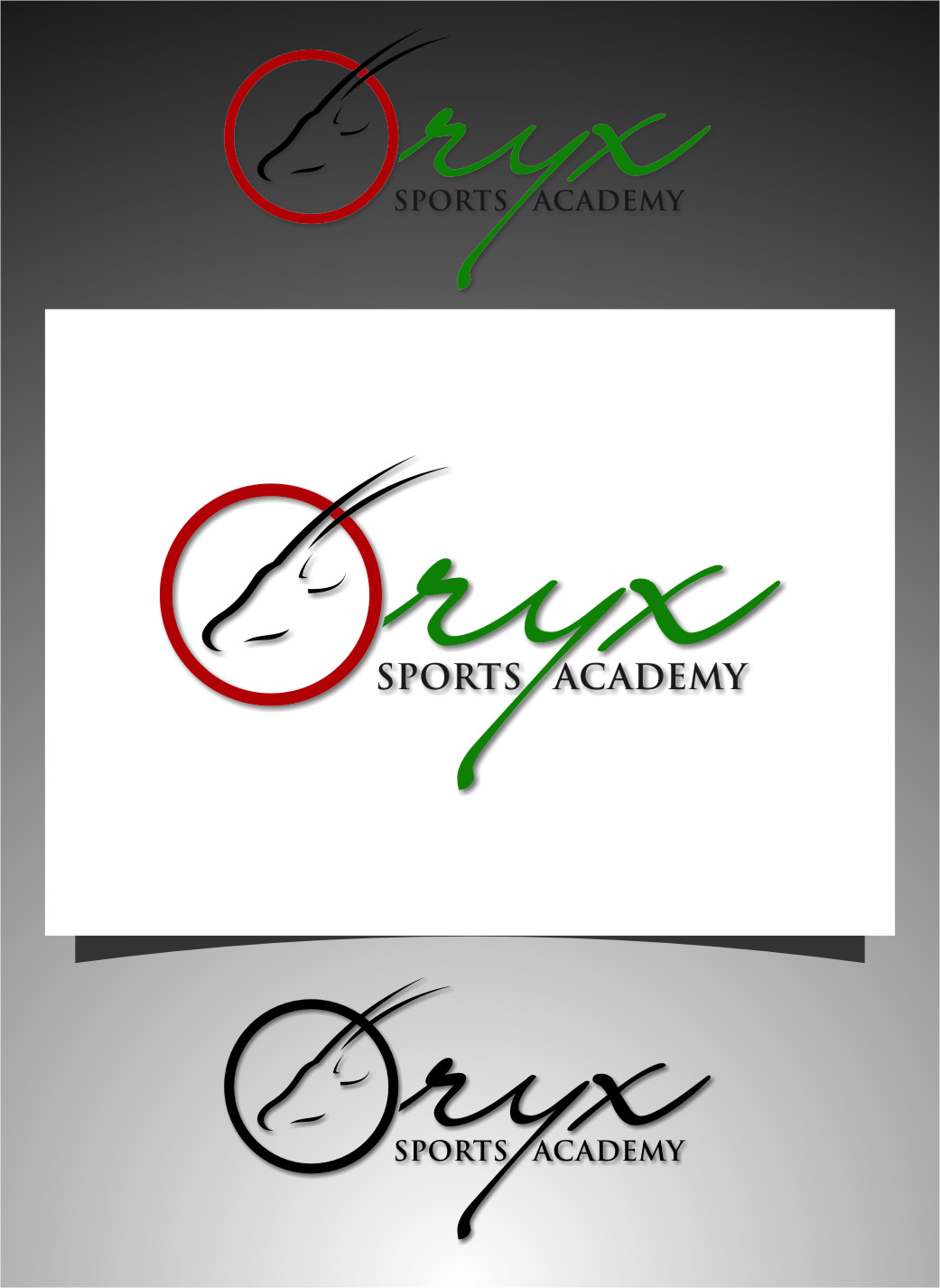 Logo Design by RasYa Muhammad Athaya - Entry No. 144 in the Logo Design Contest New Logo Design for Oryx Sports Academy.