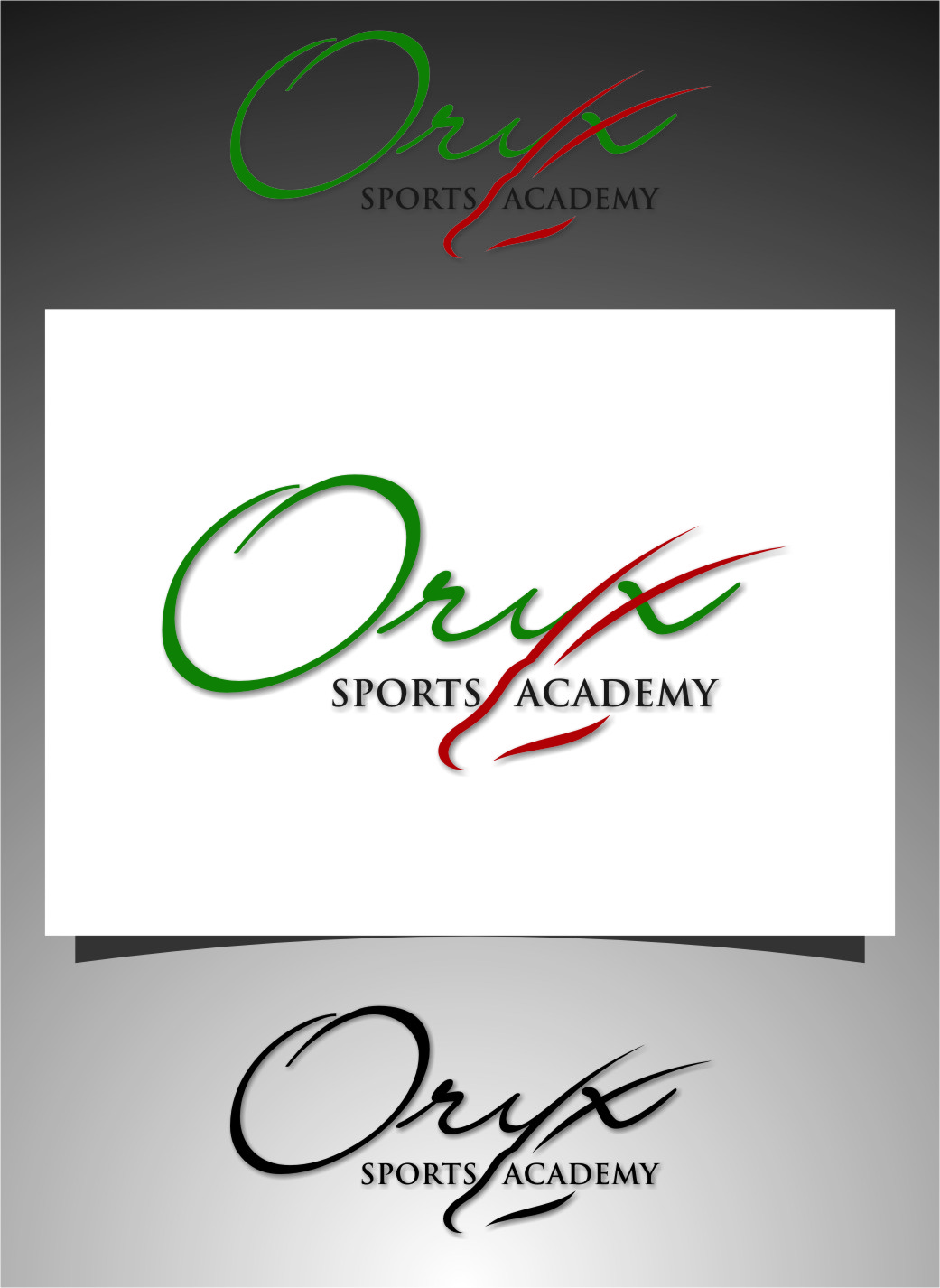 Logo Design by RoSyid Rono-Rene On Java - Entry No. 146 in the Logo Design Contest New Logo Design for Oryx Sports Academy.
