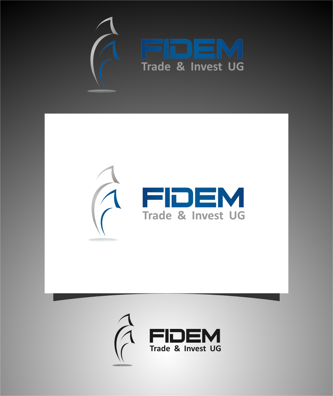 Logo Design by RasYa Muhammad Athaya - Entry No. 244 in the Logo Design Contest Professional Logo Design for FIDEM Trade & Invest UG.
