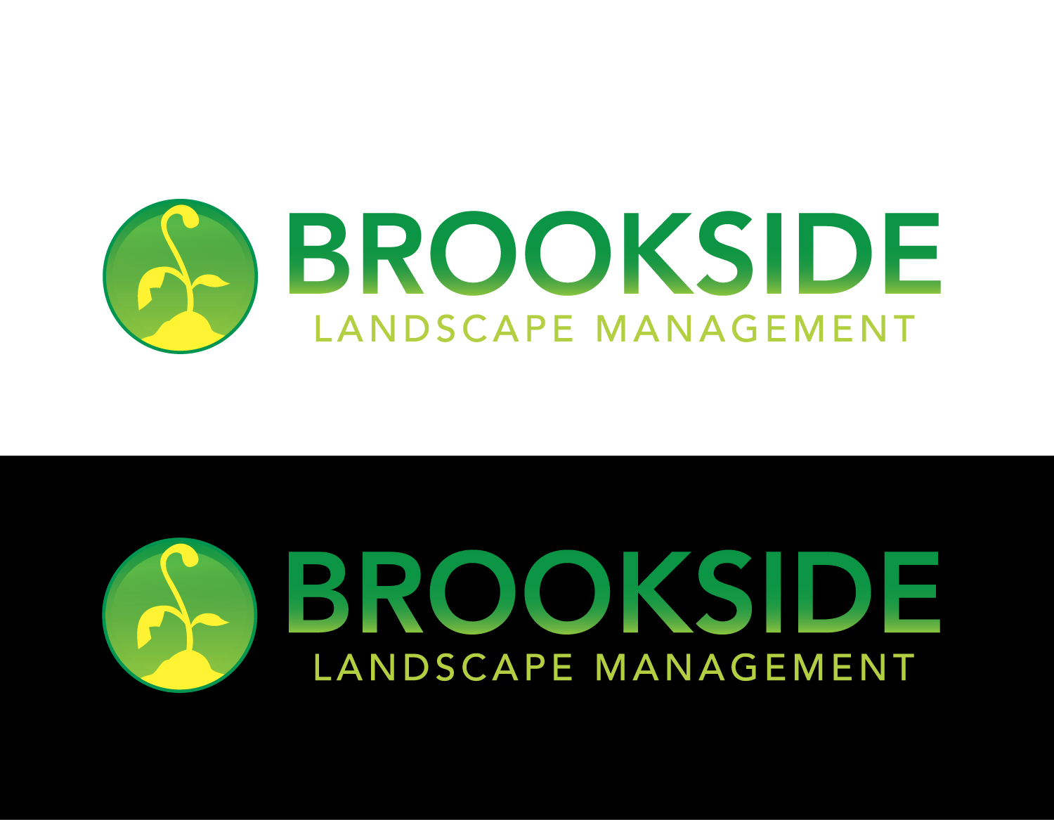 Logo Design by rA - Entry No. 66 in the Logo Design Contest New Logo Design for Brookside Landscape Management.