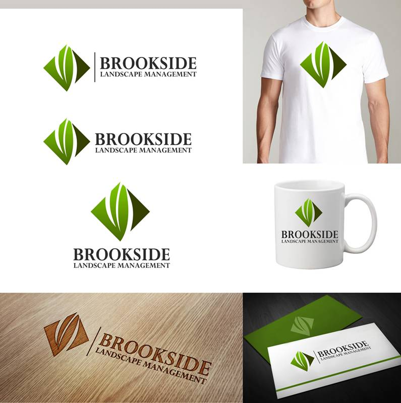 Logo Design by Respati Himawan - Entry No. 70 in the Logo Design Contest New Logo Design for Brookside Landscape Management.