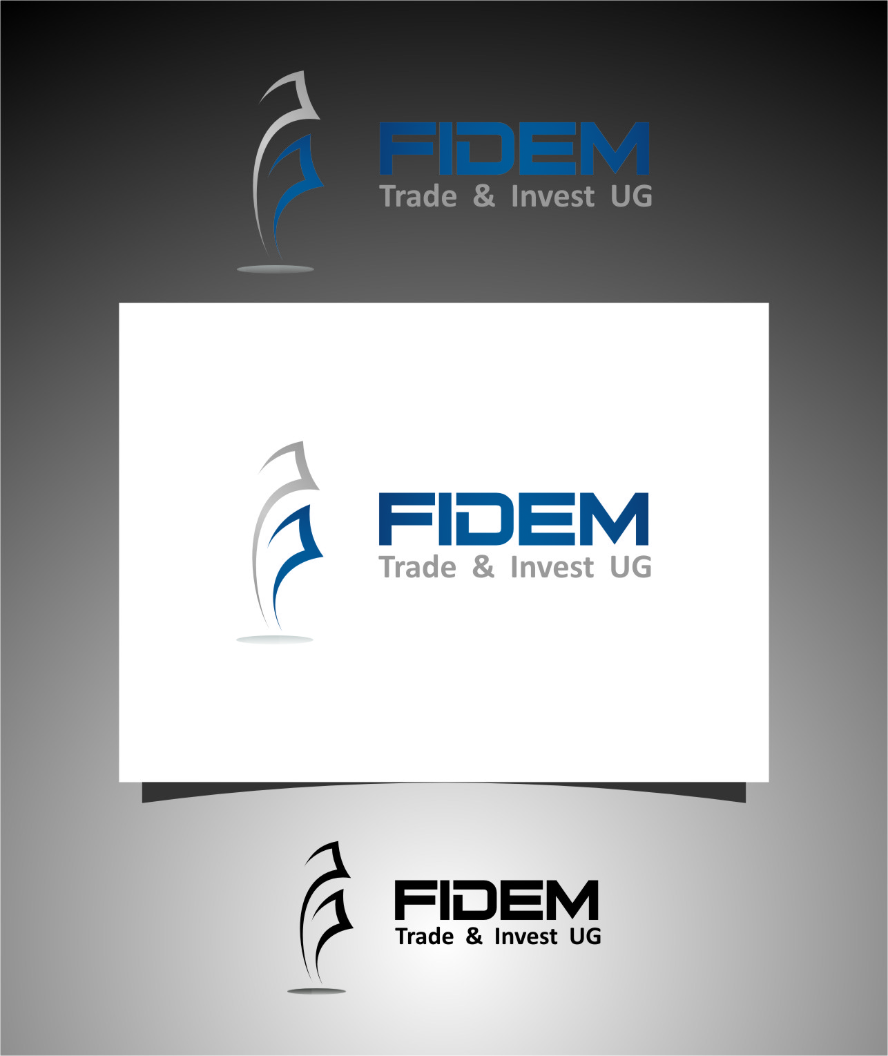Logo Design by RoSyid Rono-Rene On Java - Entry No. 277 in the Logo Design Contest Professional Logo Design for FIDEM Trade & Invest UG.