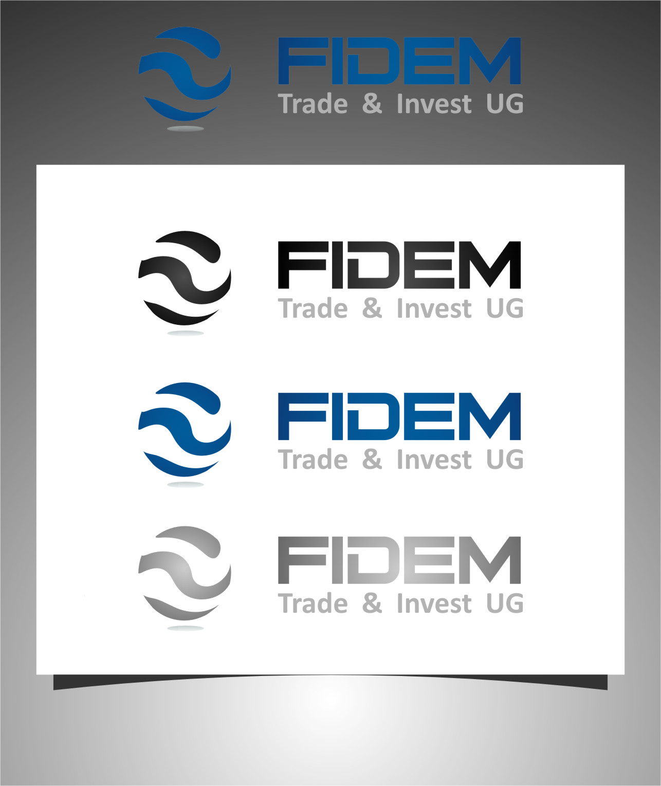 Logo Design by RasYa Muhammad Athaya - Entry No. 283 in the Logo Design Contest Professional Logo Design for FIDEM Trade & Invest UG.