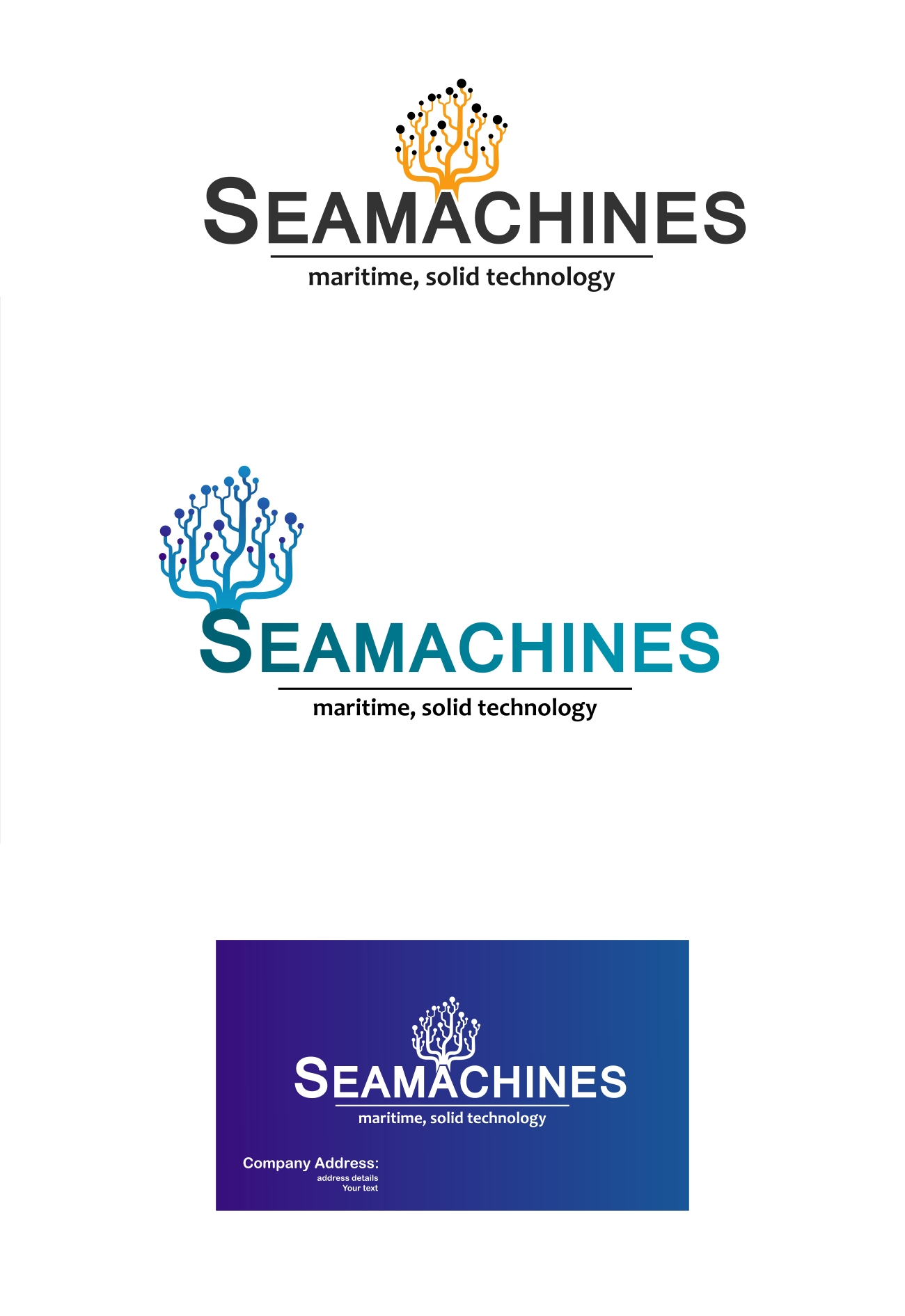 Logo Design by Private User - Entry No. 86 in the Logo Design Contest Creative Logo Design for SeaMachines.