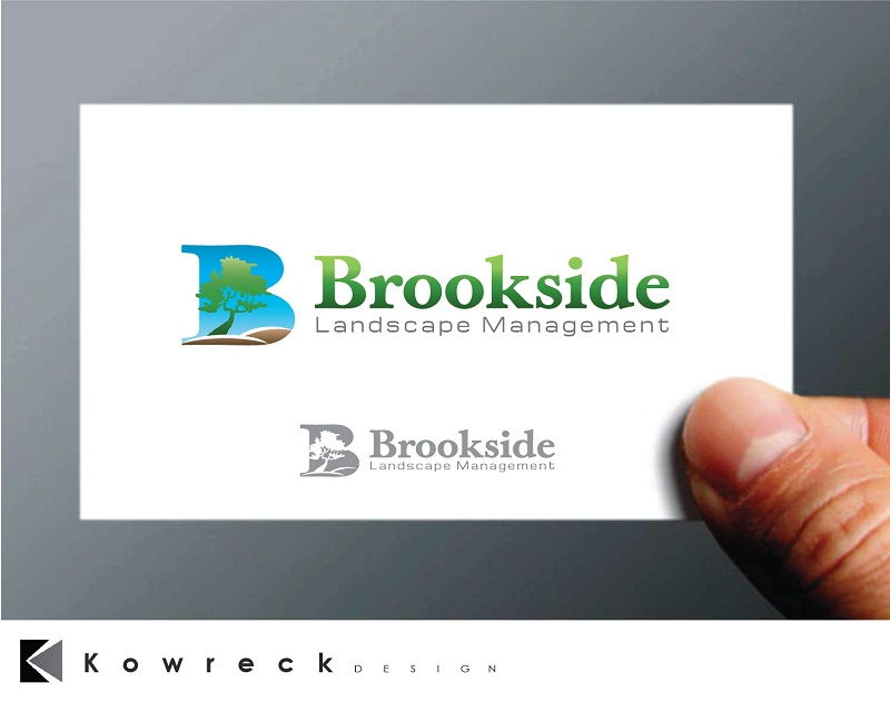 Logo Design by kowreck - Entry No. 73 in the Logo Design Contest New Logo Design for Brookside Landscape Management.